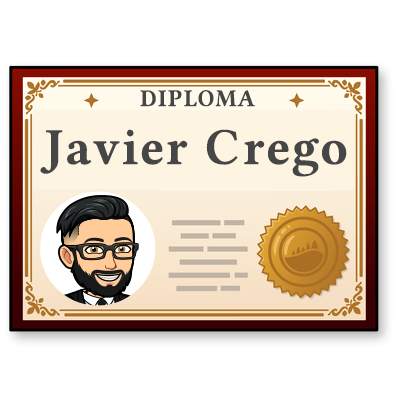 Diploma de Javier Crego Freelance WordPress