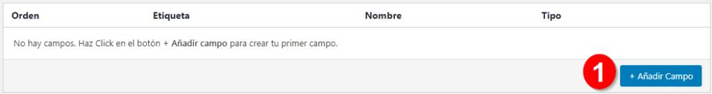 Añadir Campo - Paso 1